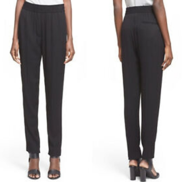 3.1 Phillip Lim 100% Silk Black Tapered Pants